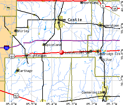 Lewisville, IN map