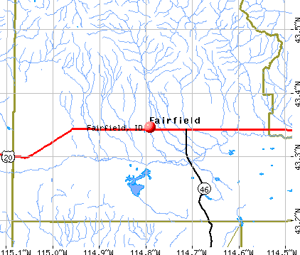 Fairfield, ID map