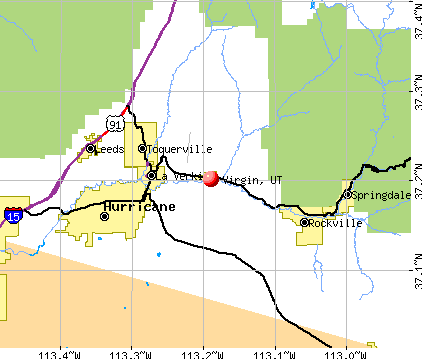 Virgin, UT map