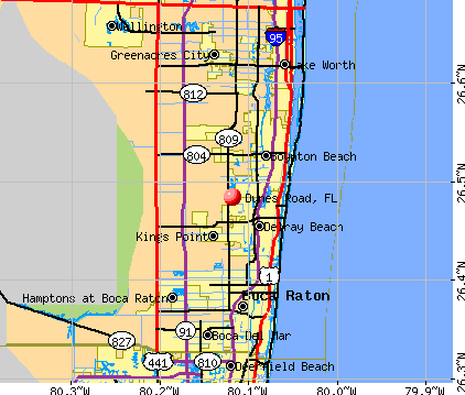 Dunes Road, FL map