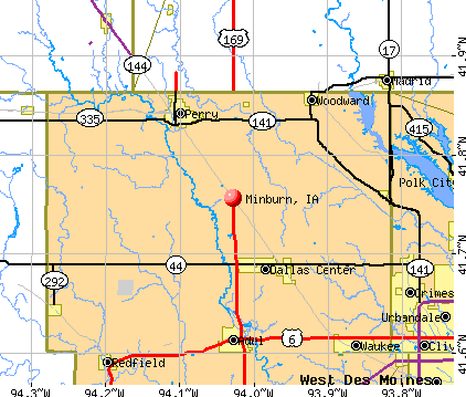 Minburn, IA map
