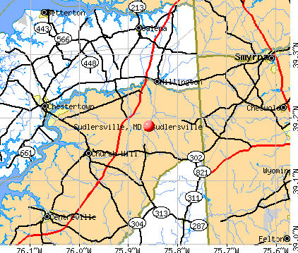 Sudlersville, MD map