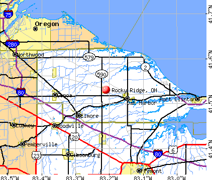 Rocky Ridge, OH map