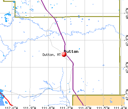 Dutton, MT map