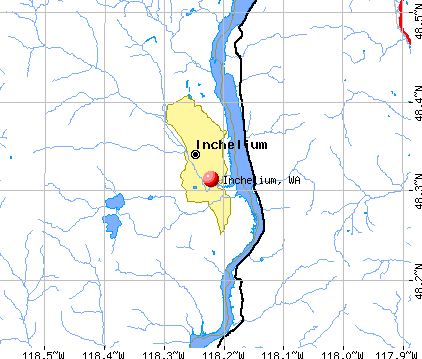 Inchelium, WA map