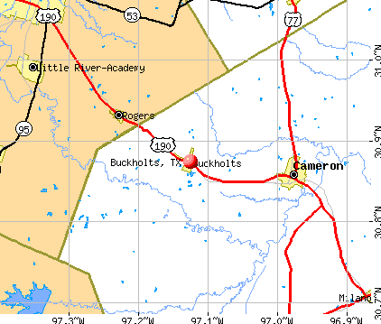 Buckholts, TX map