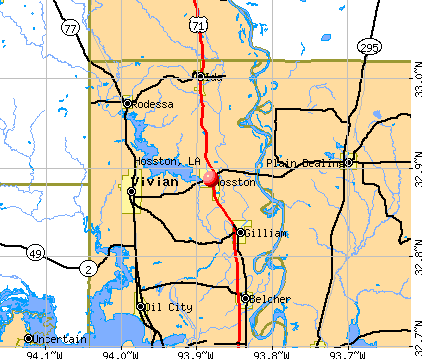 Hosston, LA map