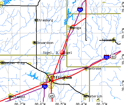 Sigel, IL map