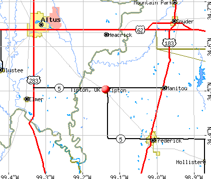 Tipton, OK map