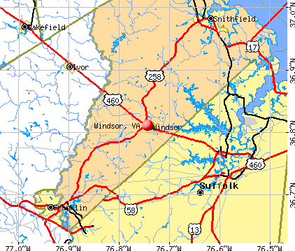Windsor, VA map