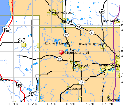 Glenbeulah, WI map