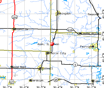 Avon, IL map