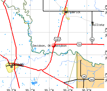 Davidson, OK map