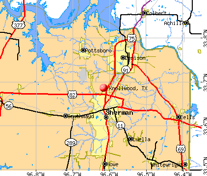 Knollwood, TX map