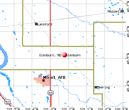 Glenburn, ND map
