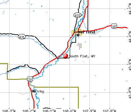 South Flat, WY map