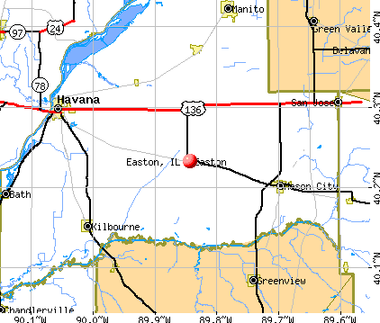 Easton, IL map