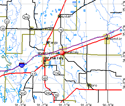 Wheatley, AR map