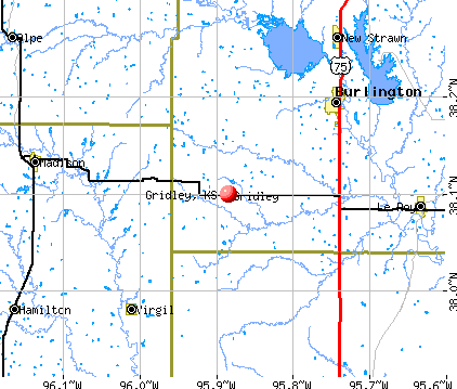 Gridley, KS map