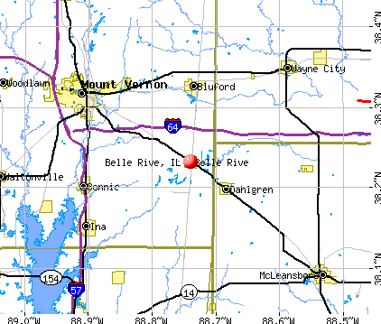 Belle Rive, IL map