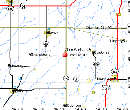 Clearfield, IA map
