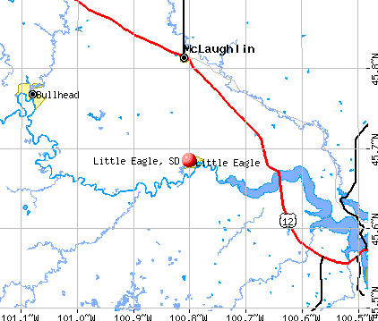 Little Eagle, SD map