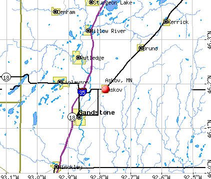 Askov, MN map