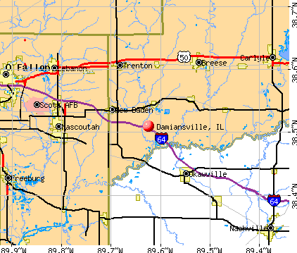 Damiansville, IL map