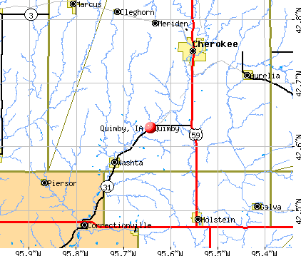 Quimby, IA map
