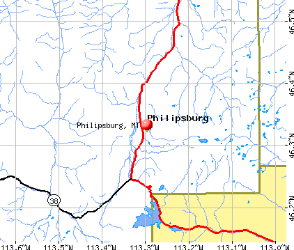 Philipsburg, MT map
