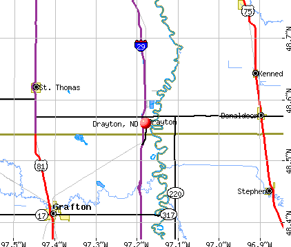 Drayton, ND map