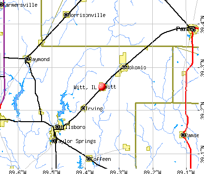 Witt, IL map