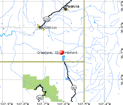 Crawford, CO map