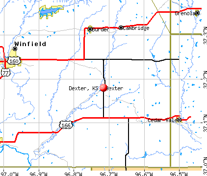 Dexter, KS map