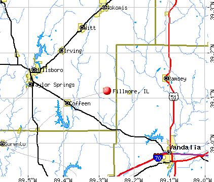 Fillmore, IL map