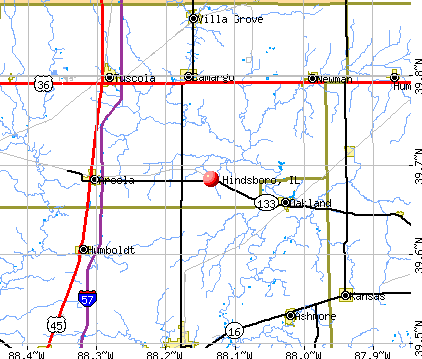 Hindsboro, IL map