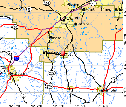 Tull, AR map