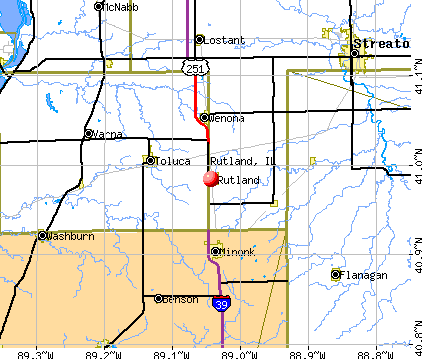 Rutland, IL map