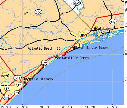 Atlantic Beach, SC map