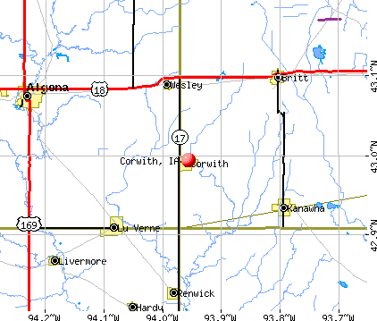 Corwith, IA map