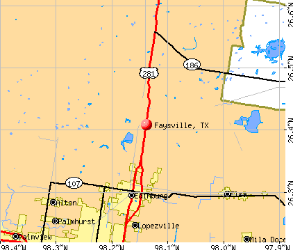 Faysville, TX map