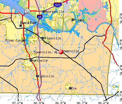 Somerville, AL map