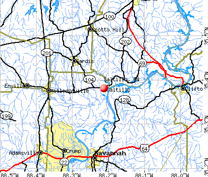 Saltillo, TN map