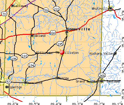 Williston, TN map