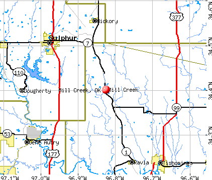 Mill Creek, OK map