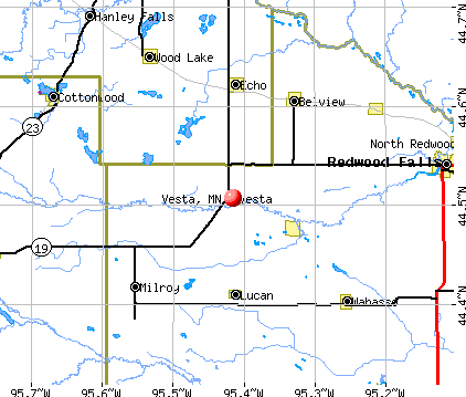 Vesta, MN map