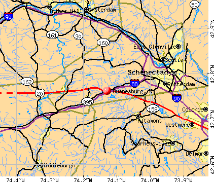 Duanesburg, NY map