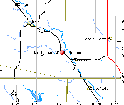 North Loup, NE map