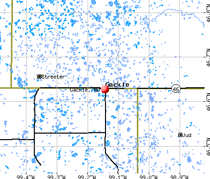 Gackle, ND map