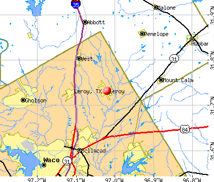 Leroy, TX map